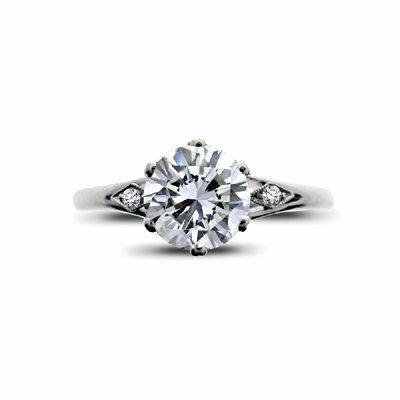 Brilliant Cut Vintage Engagement Ring 1.14ct F SI2 IGI